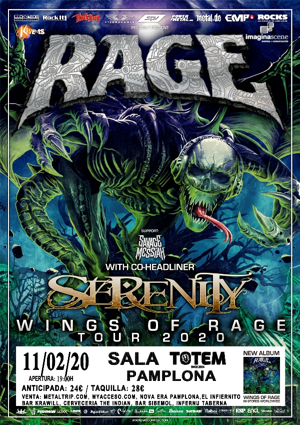 Rage-WOR-Serenity-Support-Savage-Messiah-Plakat DIN A 1 3mm Bleed.indd